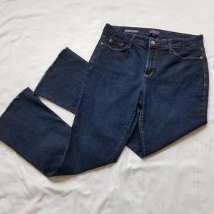 NYDJ Jeans - NYDJ Farrah Flare Dark Wash Stretch Jeans Size 10